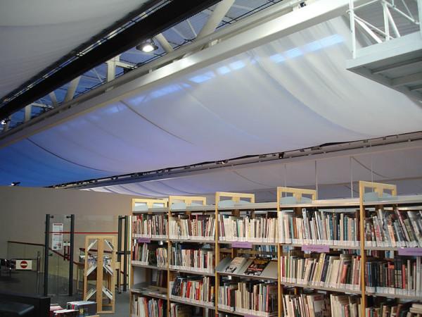 Eclairage LED d'une bibliothèque de musée