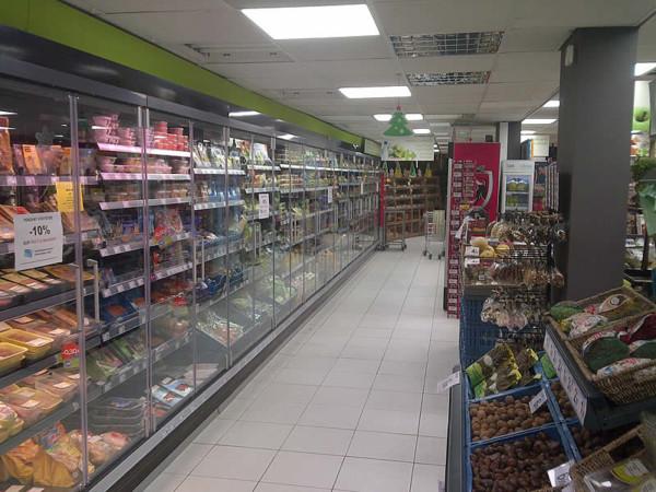 Eclairage LED d'un supermarché