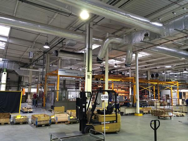 Eclairage LED d'une usine