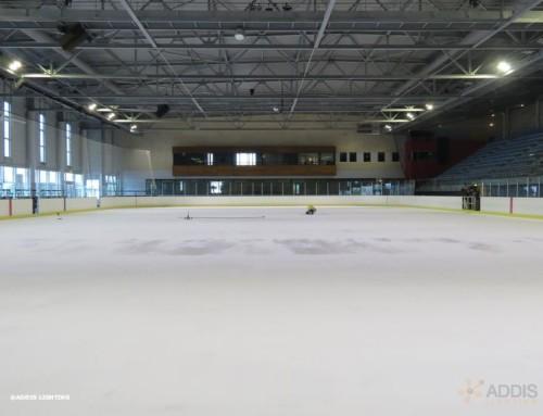 Eclairage led d'une patinoire