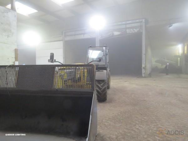 Eclairage led d'un parc à compost avec des projecteurs led de la gamme AZURITE