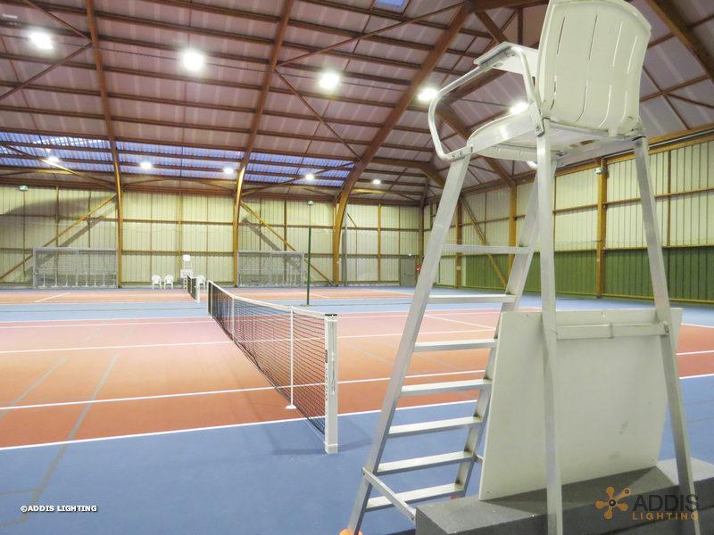 Modernisation à base de projecteurs LED AZURITE d'une salle de sport