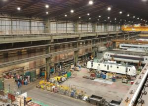 QUARTZ Compact Armature LED Hangar de maintenance ferroviaire