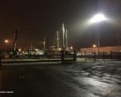 Eclairage LED d'un parc à bateau