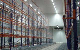 Equipement LED d'un site de stockage de denrée alimentaire, tubes OPALE
