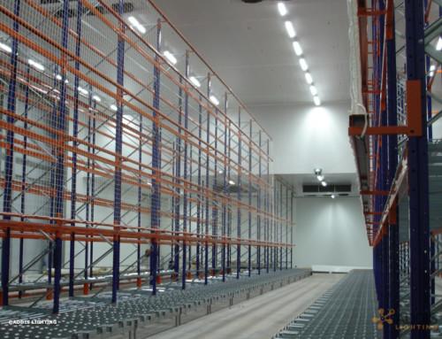 Equipement LED d'un site de stockage de denrée alimentaire