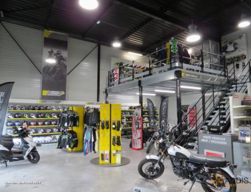 Eclairage Led d'une concession et d'un atelier moto-cross