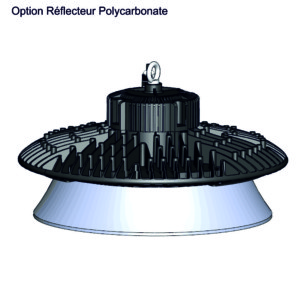 Armature Industrielle LED QUARTZ Compact 200W Option réflecteur
