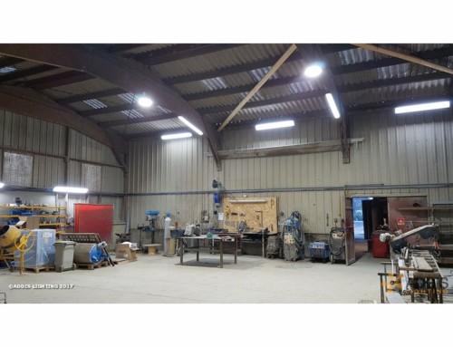 Amélioration avec la led de l'éclairage d'un atelier de soudure