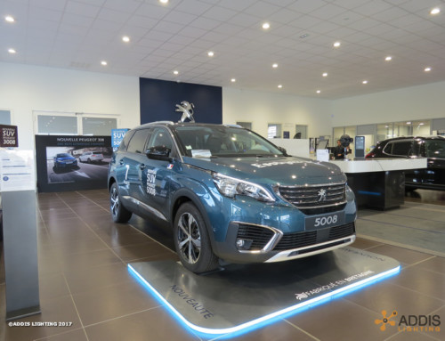 Downlight Led SHIVA pour une nouvelle concession Peugeot Citroen