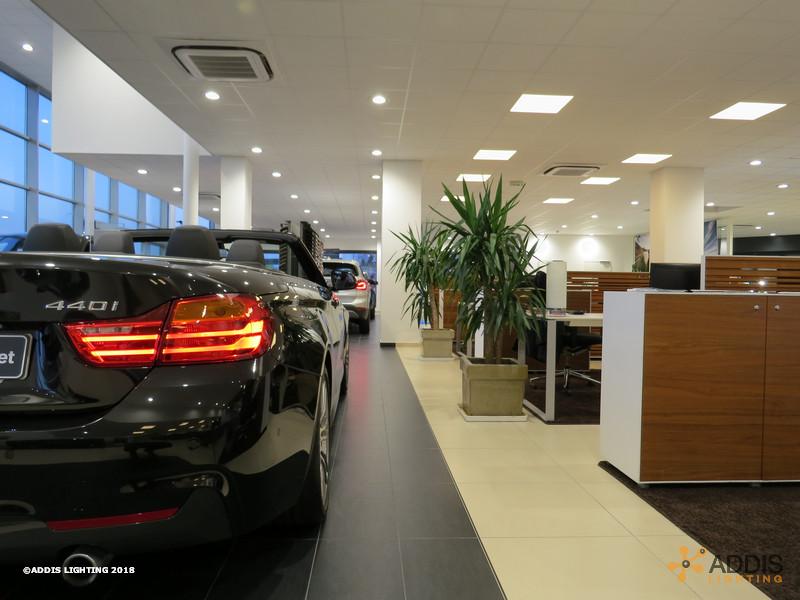 Eclairage LED d'une nouvelle concession BMW